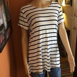 Umgee USA Striped tunic in black and white